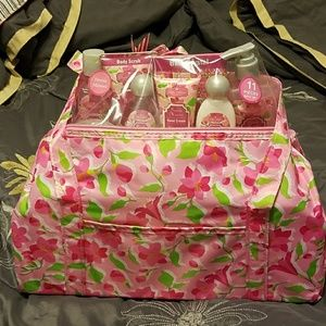 Just in time for spring. body care tote